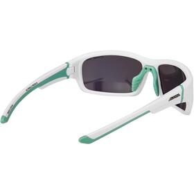 Alpina Lyron S Glasses white matt-pistachio/emerald mirror